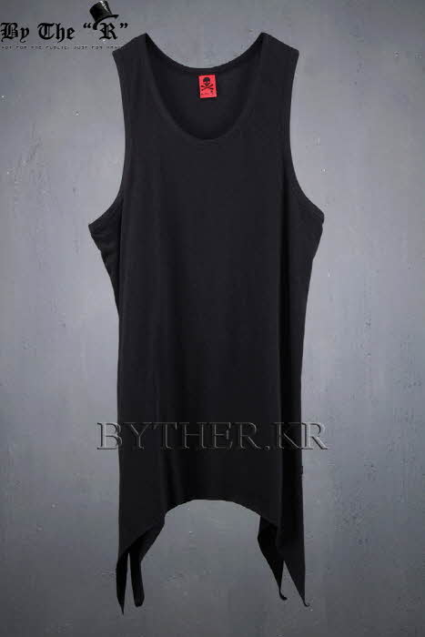 ByTheR Long Layered Unbalanced Hem Tank Top