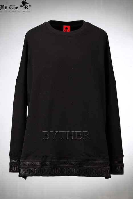 ByTheR Embroidered Cotton Sweatshirt