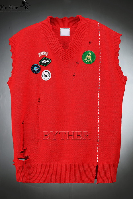 Over Fit Damaged Knit Vest