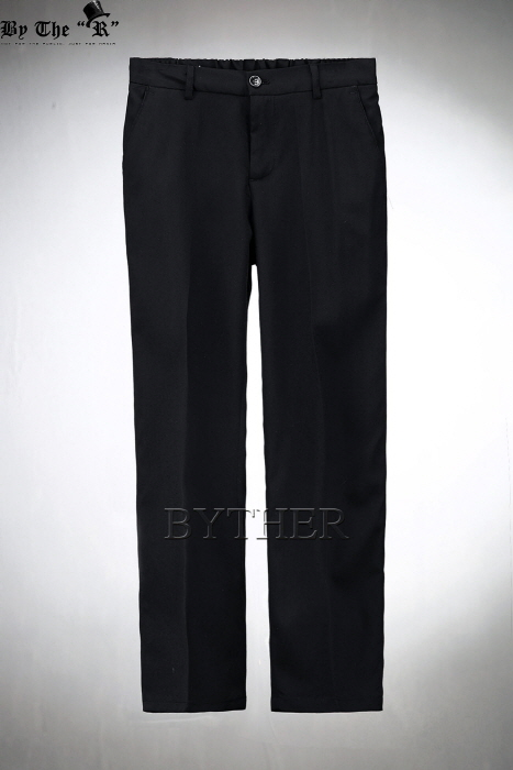 Half Banding Loose Fit Slacks