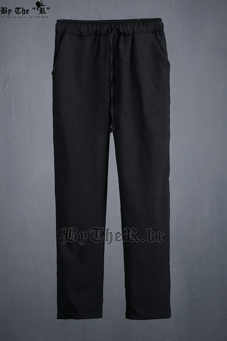 Soft Thin Fabric Made Standard Banding Loose Cool Slacks