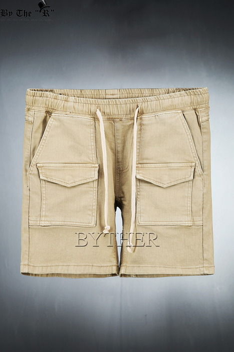 Washed Front Cotton Cargo Shorts