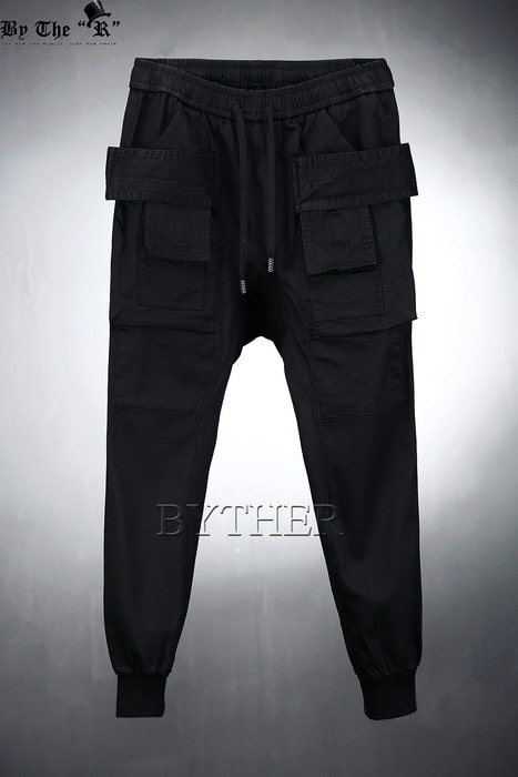 Pocket Covered Baggy Jogger Pants