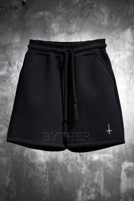 ByTheR X ProjectR Cross Embroidery Neoprene Short Pants