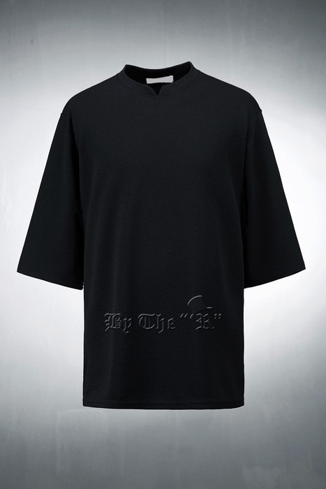 Wave Pattern Mandarin 3/4 Sleeve T-shirts