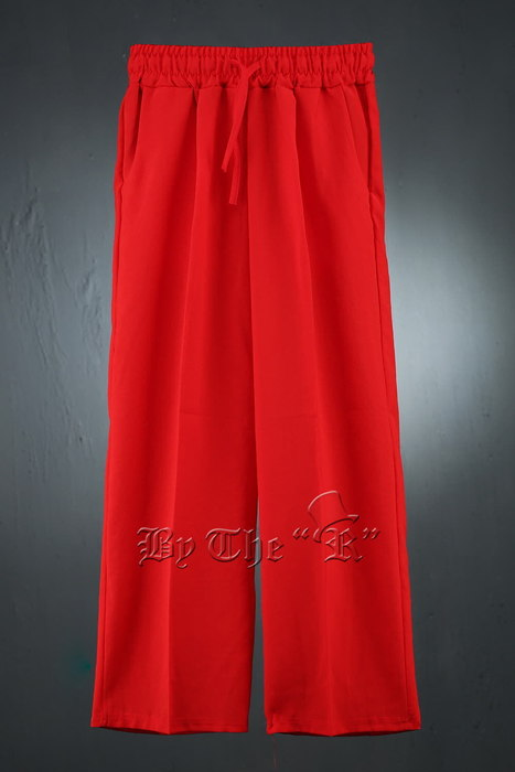 ByTheR Vivid Color Waist Banding Wide Leg Pants
