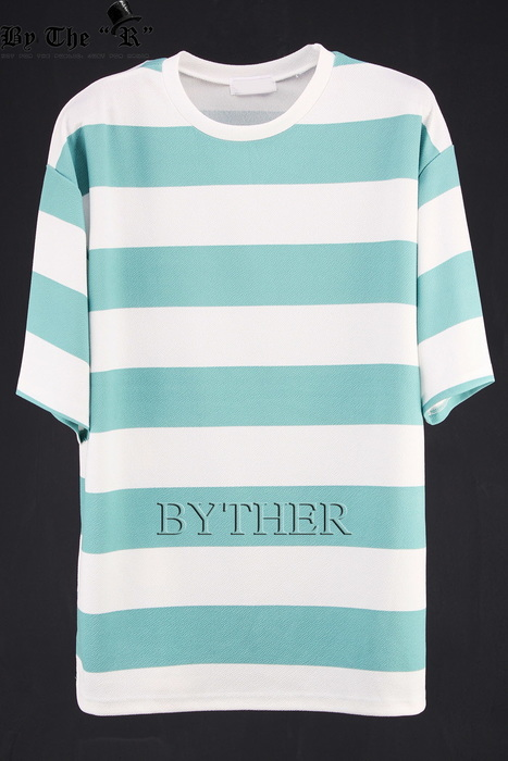 Thick Stripe Detail Loose Fit Short Sleeve T-Shirt