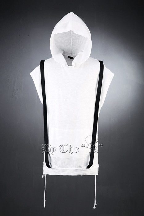 Suspender Hood Sleeveless T-Shirts