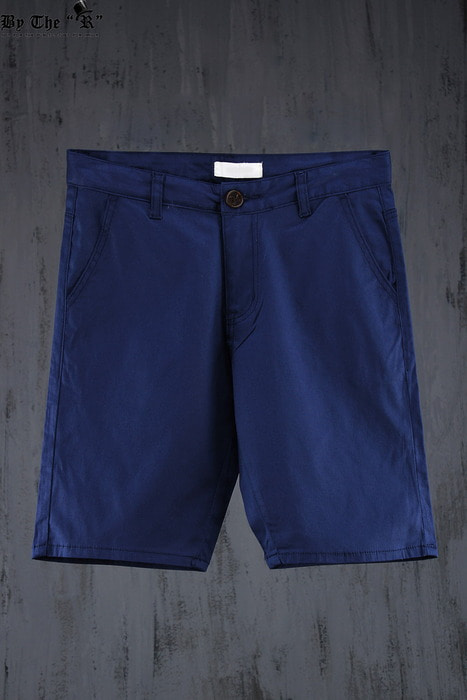 Basic Slim Solid Cotton Shorts
