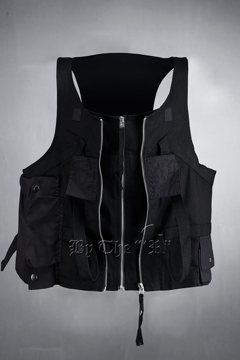 ByTheR Techwear Zip Layered Vest