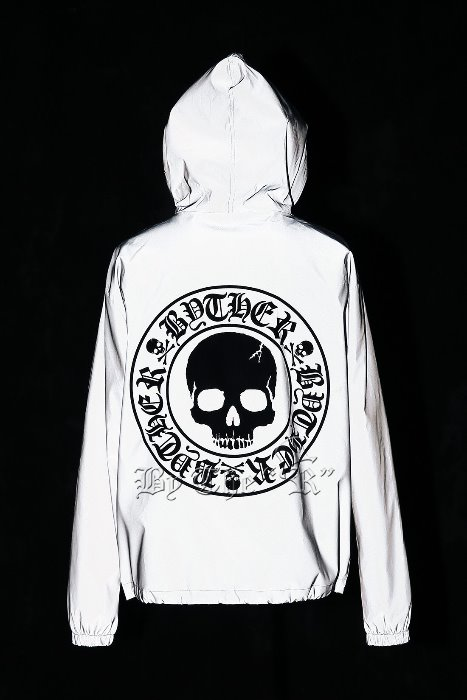 ByTheR Skull Logo Scotchlite Fur Lining Windbreaker