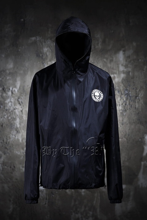 ByTheR Skull Logo Black Windbreaker Jacket