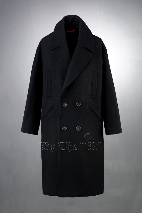 Big Pocket Woolen Pea Coat