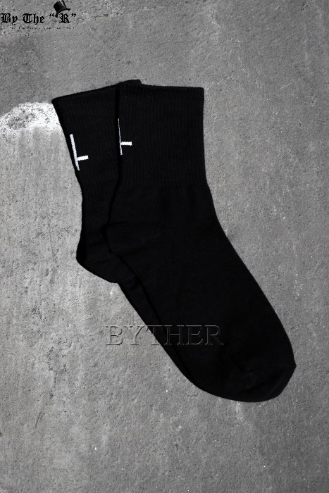 ByTheR X ProjectR Embroidery Cross Socks