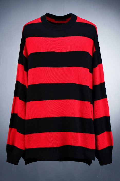 Horizontal Striped Colorful Knit Tee