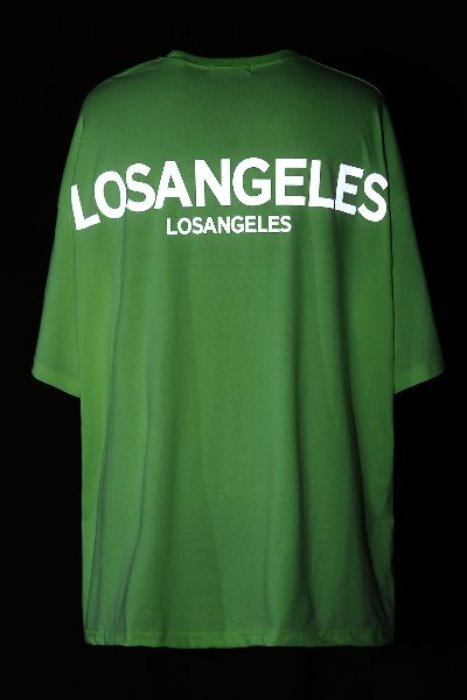 Los Angeles Scotch Reflective Oversized T-shirt