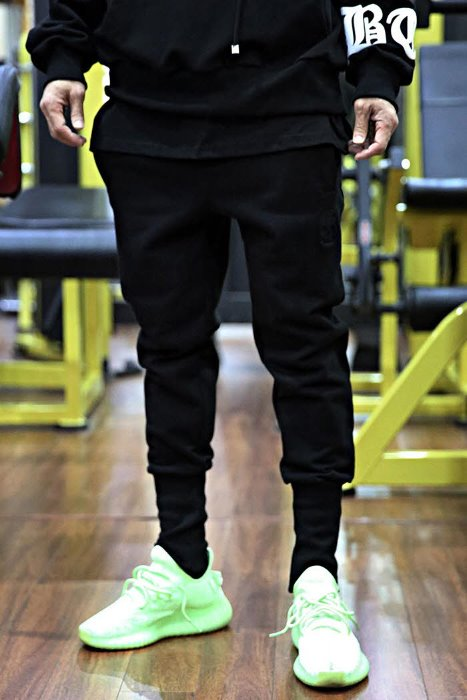 ByTheR Skull Embroidered Cotton Jogger Pants Black