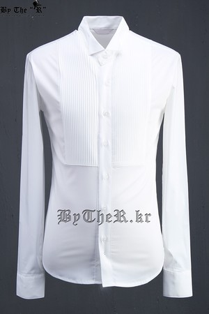ByTheR Chest Square Pin Tuck Shirts