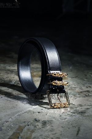 Faux Leather Luxury Double Rock Belt