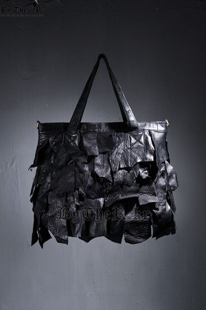 Leather Grunge Patch Tote Bag