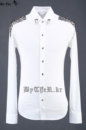 ByTheR Stud-epaulette Accessory Shirts