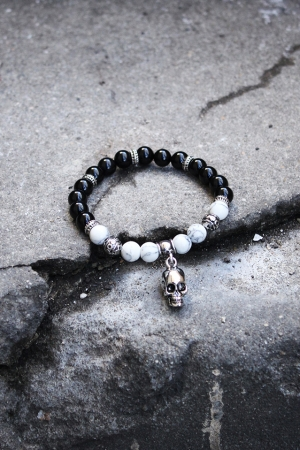 ByTheR Black Skull Bracelet