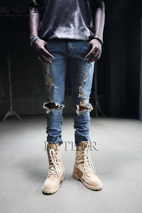 SLP Looking Harly Destroyed Knee Part Jeans