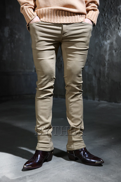 Basic brushed cotton pants