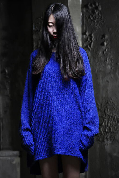 Side-Slit Knit Long Sleeve