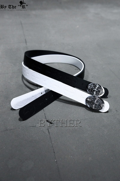 Monotone Antique Cross Buckle Belt