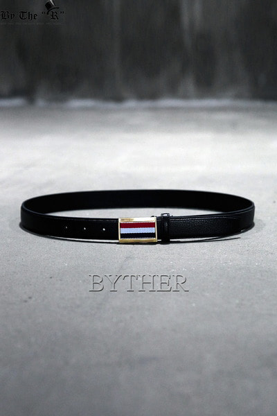Triple Color Buckle Leather Belt