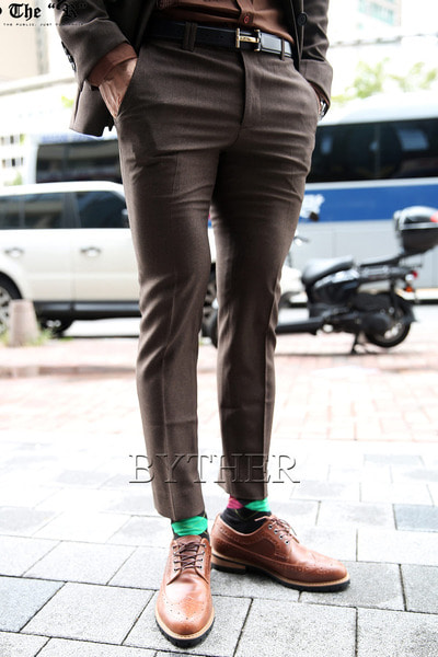 Brown Slim Span Slacks