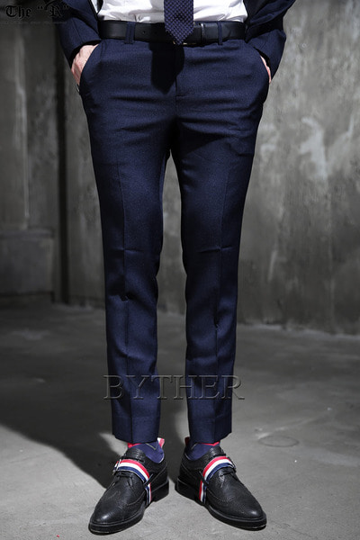 Navy Slim Span Slacks