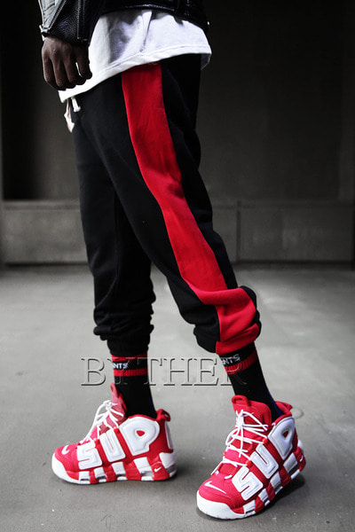 Side Line Baggy Casual Pants