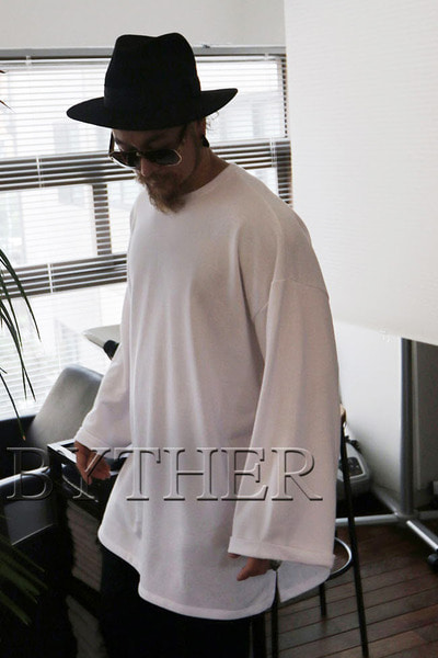 ByTheR Sleeve roll-up Oversize T-shirt