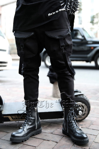 Straps Pockets Jogger Cargo Pants