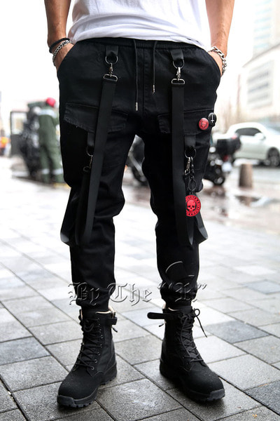 Techwear Square Pocket weaving Jogger Pants