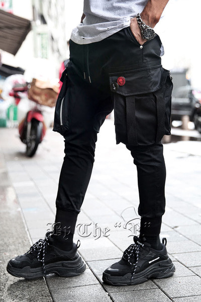Techwear Zip Pocket Cut Jogger Pants