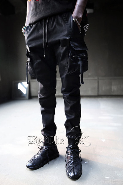Strap Cargo Pocket Jogger Pants