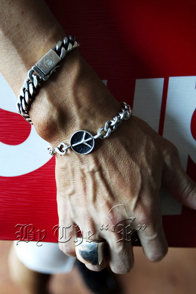 Peace Pandent Metallic Chain Bracelet