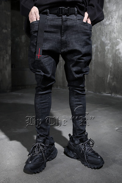 ByTheR Snap Button Ankle Zipper Baggy Pants