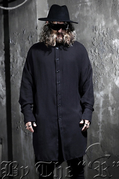 ByTheR Vintage Unbalanced Hem Loose Long Shirts