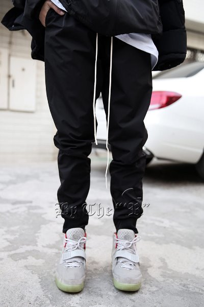 Inside Zipper Nylon Jogger Pants