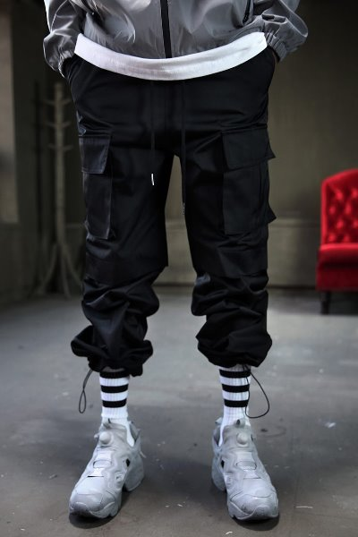 Ankle Strap Wide Cargo Pants