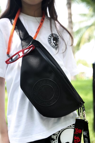 ByTheR Logo Embraced Black Hip Bag