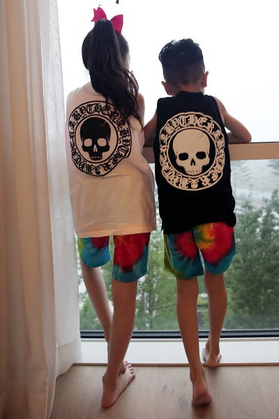 ByTheR Kids Skull Logo Embossing  White Tank Top