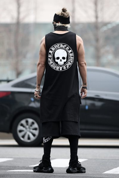 ByTheR Unbalanced Long Sleeveless