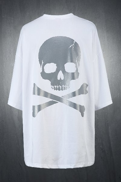 ByTheR Skull Luminous Reflective Loose Fit Short Sleeve Tee
