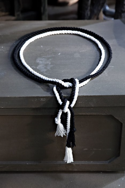 ByTheR Slim Dark Rope Belt