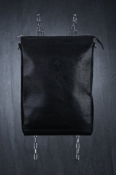 ByTheR Logo-Patch Leather Backpack